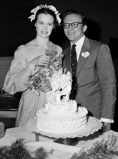 Gloria Vanderbilt after wedding to Sidney Lumet in 1956