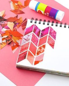 Omiyage Blogs: Make: Magazine Collage Patterns