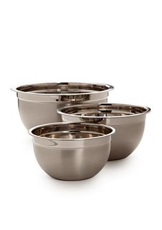 Cooks Tools™ 3-Piece Stainless Mixing Bowl Set