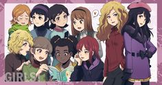 anime version of the South Park girls