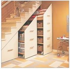 Cellar reno--storage under stairs  chiccoles.com : Under the Staircase