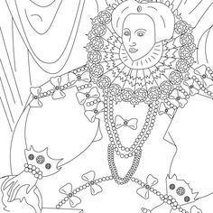 Grab Your New Coloring Pages Queen Elizabeth 1 Free Http Gethighit Com New Coloring Pages Queen Eliz Coloring Pages Free Coloring Pages Famous Art Coloring