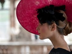 An elegant couture Yvette Jelfs hat