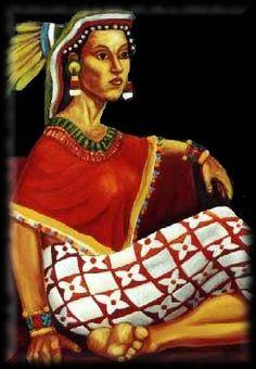 Xochiquetzal - Aztec goddess of erotic love, maize, vegetation, artistry, and prostitutes.