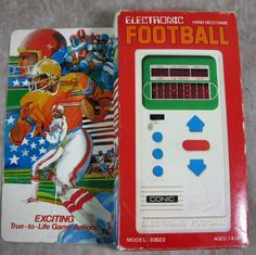 Conic Electronic Football Hand Held Vintage Game Classic 1980's Arcade Toy #CONIC