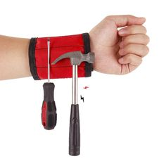 Unisex Polyester Magnetic Wristband Strong Magnets Portable Bag Wrist Tool Belt Screws Nails Drill Bits Holder Car Repair Tools| | - AliExpress Drill Bit Holder, Nail Drill, Tool Belt, Car Repair, Magnets, Strong, Tools, Unisex, Bag