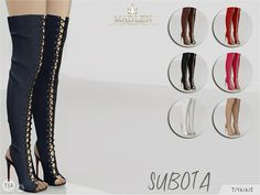 The Sims Resource: Madlen Subota Boots by MJ95 • Sims 4 Downloads