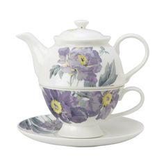 Laura Ashley - Peony Amethyst Tea for one - $99.95