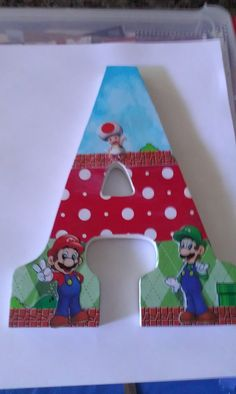 mario brother's collage letter