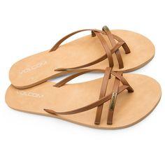 Volcom Lookout 2 Women's Sandals - COGNAC