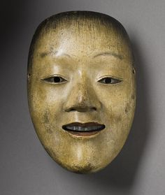 Noh Mask: Jido (Young Male Sprite), 17th century  Mask/headdress; Wood, Wood and polychrome, LACMA