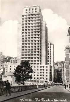 1930 Futuristic Architecture (Genova Italy). The first Italian Skyscraper.
