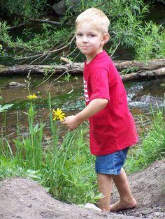 Gavin wanted a flower for his Mom! Still Greer Creek~White Mountains Az.