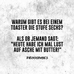 Asche mit Toast