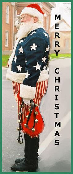 I love this. Had to post it for Christmas next year for the Ladies. Patriotic Santa, Gettysburg, Pennsylvania