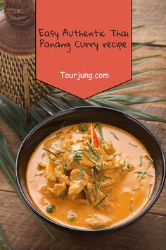 Here's A Quick And Smooth Thai Chicken Panang Curry To Make On Weekdays For A Basic Supper Or Lunch. Do whatever it takes Not To Stress, It's Not One Of Those Extremely Spicy Thai Dishes, It's On The Milder End. Panang Curry Chicken, Panang Curry Recipe, Entree Recipes, Asian Recipes, Thai Recipes, Easy Recipes, Asian Foods, Dinner Recipes, Tasty Thai