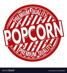 Popcorn label or stamp vector image on VectorStock Printable Labels, Printable Planner, Free Printables, Movie Night Party, I Party, Movie Themes, Party Themes, Popcorn Logo, Popcorn Seeds