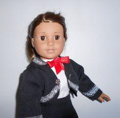 Mariachi charra suit traje black gabardine silver trim for American Girl doll Cinco de Mayo handmade Mariachi Suit, Lace Up Boots, American Girl, Dress Up, Suits, Silver, Cotton, Jackets, Etsy