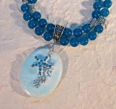 Seascape Cerulean Jade Double Strand Necklace by blingbychristine, $82.00