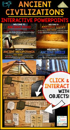 Powerful teaching tools and quit… Sponsored Sponsored Ancient Civilizations Interactive Powerpoints. Powerful teaching tools and quite the virtual experience for students! World History Teaching, Ancient World History, World History Lessons, Study History, History Teachers, History Class, Women's History, 6th Grade Social Studies, Teaching Social Studies