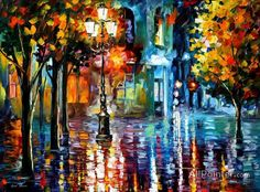 Leonid Afremov Old Streets oil painting reproductions for sale