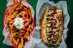 Alligator Dog & Crawfish Étouffé Fries – Dat Dog (Uptown)