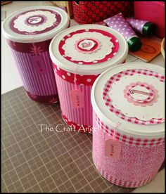 Create personalised gift boxes from empty baby formula tins.