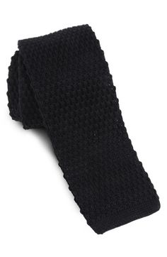 $39, Black Knit Tie: Skinny Knit Tie Black Regular by 1901. Sold by Nordstrom. Click for more info: http://lookastic.com/men/shop_items/135588/redirect