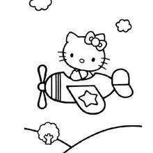 Coloriage De Hello Kitty En Avion Coloriage Coloriage Hello Kitty Coloriage Hello Kitty Coloriage Dessin Hello Kitty