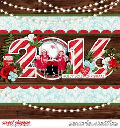 Half Pack 175 Happy New Year by Cindy Schneider Christmas Woods by Kristin Cronin-Barrow and Digital Scrapbook Ingredients