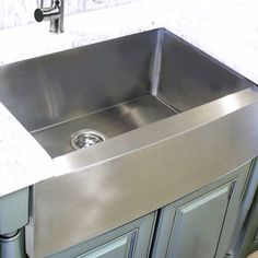 Stainless Steel (Silver) 30 Inch Farmhouse Apron Sink (304 Stainless  Steel), HIGHPOINT COLLECTION