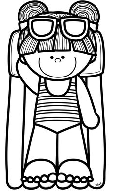 Coloring book clip art image illustration black and white - summer Space Coloring Pages, Cute Coloring Pages, Free Coloring, Coloring Sheets, Adult Coloring, Coloring Books, Creative Clips, Preschool Painting, Book Clip Art