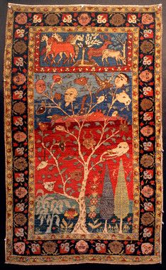 Persian Tabriz - heads on trees, what the wow?!?!