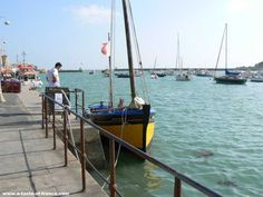 The harbour at Barfleur in Normandy France