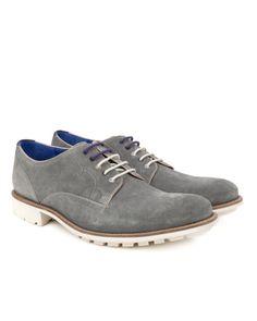 Leather derby shoe - Grey   Footwear   Ted Baker UK www.MadamPaloozaEmporium.com www.facebook.com/MadamPalooza