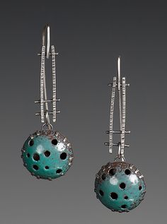 Holy Dangles! by Beth Novak: Enameled Earrings available at www.artfulhome.com