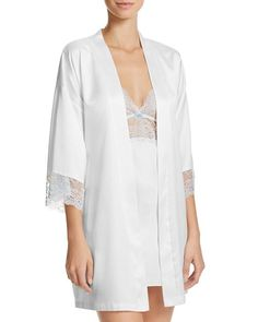 Bridal Robes, Bridal Lingerie, Lingerie Sleepwear, Half Sleeves, Lace Trim, Bloom, Tunic Tops, Shopping, Gowns