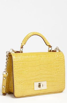 kate spade new york 'chamber street - carlyle' croc embossed satchel available at #Nordstrom