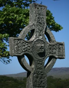 """On Pilgrimage with a Celtic Woman, """"Splashing my face three palmfuls of water/God of Life/Christ of Love/Spirit of Peace/Kindling my fire/thrice lift the peat/God, kindle in me a flame of love."""" Esther de Waal (Islay, Inner Hebrides, Scotland: kildalton Cross)"""
