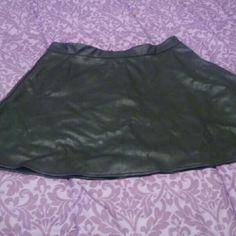 Skater shirt Faux leather skater skirt worn once. Skirts Circle & Skater
