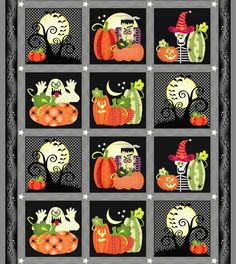 Quilt Soup :: Quilt Patterns ::DL the free project PDF Hand Made Quilts and Home Made Soups Halloween Blanket, Halloween Pillows, Halloween Quilts, Halloween Fabric, Halloween Sewing, Fall Sewing, Halloween Crafts, Halloween Artwork, Spooky Halloween