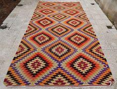 6 X 11 Ft. Very Fine Large Turkish Kilim, Oriental Area Rug Floor Carpet Kelim #Modern