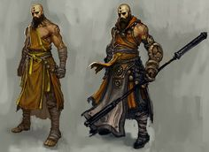 Monk Male - Pictures & Characters Art - Diablo III