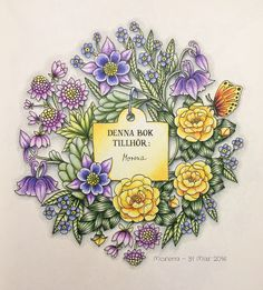From the new Blomstermandala! Coloured by Morena Vajak #prismacolor #roses…