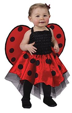 uhc baby girls lady bug outfit fancy dress infant toddler halloween costume os up - Baby Cat Halloween Costume