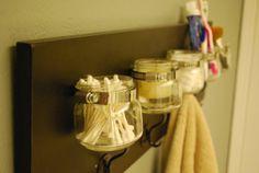 Barnwood mason jar and vintage hook wall by HumbleHomeSupplyCo, $80.00