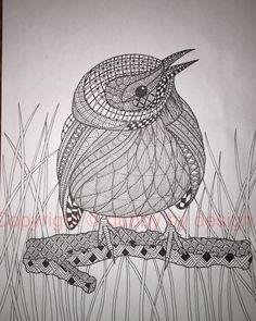 Prairie Warbler with background. #dubbybydesign #zentangle #zentangleinspiredart #benkwok #ornationcreation #inkdrawing #doodle #zendoodle #prariewarbler