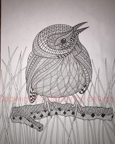 Prairie Warbler with background. #dubbybydesign #zentangle #zentangleinspiredart #benkwok #ornationcreation #inkdrawing #doodle #zendoodle #prariewarbler