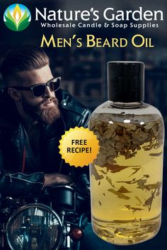 Men's Beard Oil Recipe by Natures Garden.