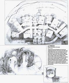 """Bueno, esto es más una curiosidad que otra cosa... Son los planos de Bolsón Cerrado, la casa de 2 de los personajes de """"El Señor de los Anillos"""". Cualquier parecido con los conceptos """"nido y cueva""""..."""